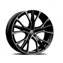 JE DESIGN Design Star 8.5 x 19 OS 35 112-5-57,1  shiny black, front pol.