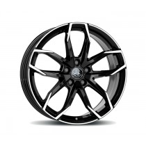 JE DESIGN Lucca wheel 8.0 x 20 OS 45 112-5-57  shiny black front polished