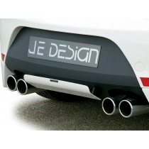 JE DESIGN high-grade silencer Seat Leon 1P  left/right with 4xoutlet 90mm,only 118-195 KW