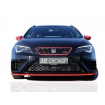 JE DESIGN frontbumper cover 3-pcs  Seat Leon 5F FR / Cupra 3+ 5 door version incl. ST