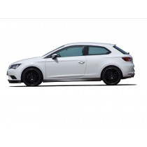 JE DESIGN sideskirts Seat Leon 5 F, 06.13-  Carbon-Look, does only fit at 3-door ( SC )