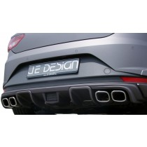 JE DESIGN rear diffusor Seat Leon 5F Cupra  fits on 3 and 5 door