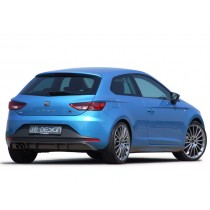 JE DESIGN rear cover Seat Leon 5 F, 11.12-12.16  Carbon-Look, does only fit on Leon FR 3+5 door