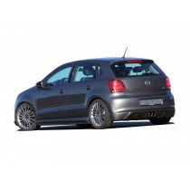 "JE DESIGN rear valance  VW Polo 6R  only with double exhaust pipe ""middle"" JE6RA27875"
