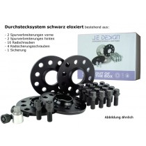 spacer kit 30 mm front / 40 mm rear, 112/100-5  black, incl.wheel bolts and locks ( kit 2 )