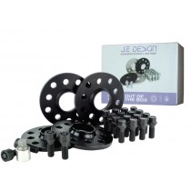 spacer kit 24 mm front / 30 mm rear, 112/100-5  black, incl.wheel bolts and locks ( kit 1 )